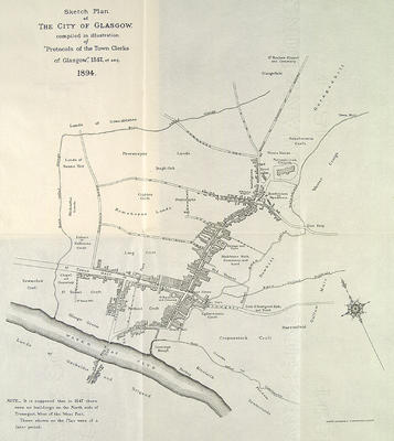 Map of Glasgow, 1547