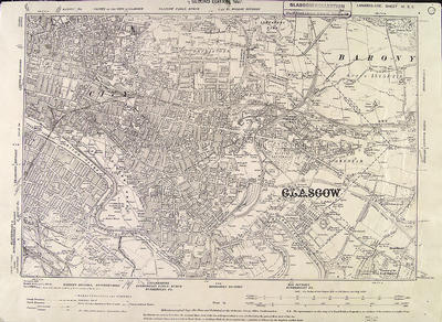 Map of Glasgow, 1897