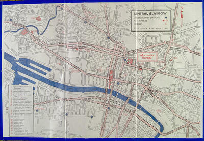 Map of Glasgow, 1970