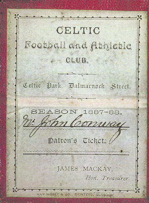 Celtic membership card, 1887