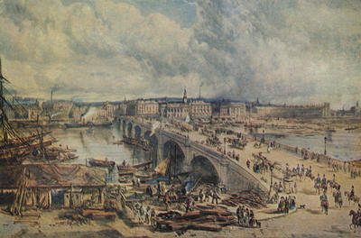 Glasgow Bridge, 1850