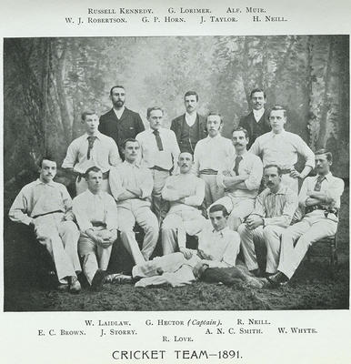 Cartha Cricket Team, 1891