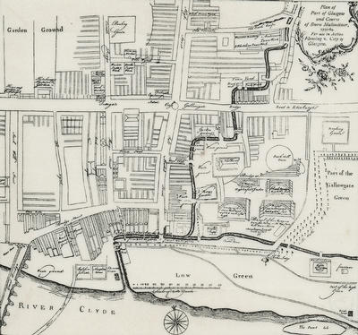 Map of Glasgow, 1764