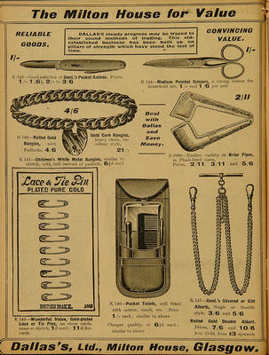 Dallas's Ltd catalogue, miscellaneous items
