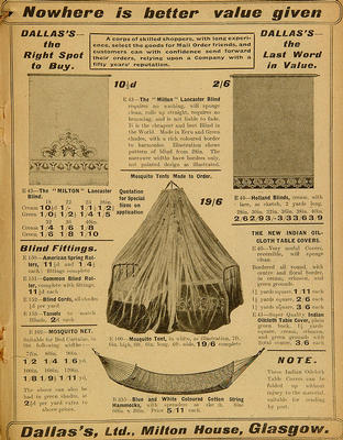 Dallas's Catalogue, 1915