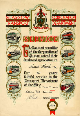 Long service certificate