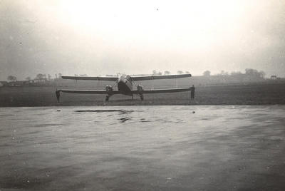 Biplane at Renfrew