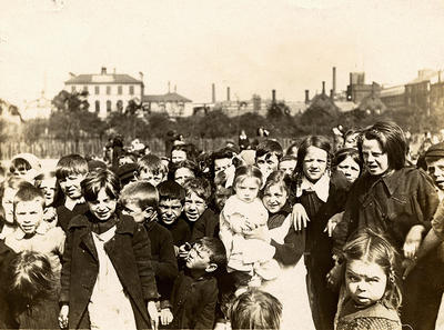 Children on Glasgow Green
