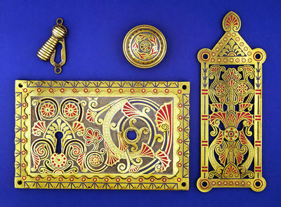 Brass door furniture