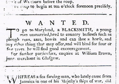Indentured blacksmith