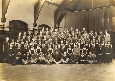 Pupils at Queen's Park Secondary 1936