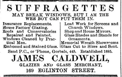 Glazier's advert