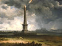 Nelson's Monument Struck by Lightning