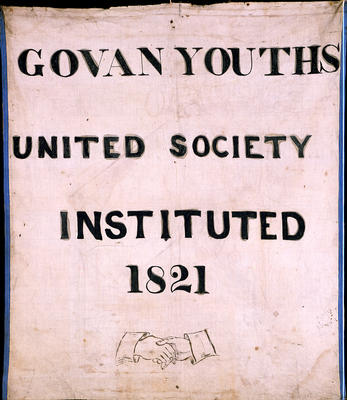Govan Youths' United Society banner