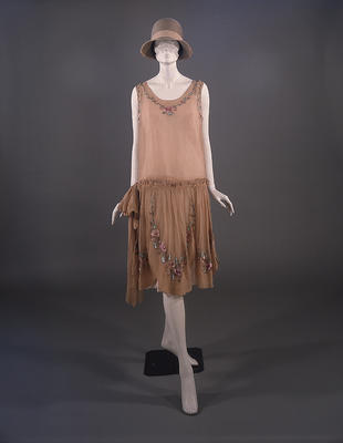 Silk Crepe Dress c 1927