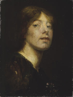 Self-portrait by Bessie MacNicol