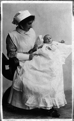 Nurse and baby