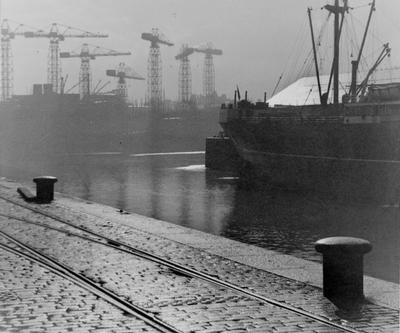 View from Yorkhill Basin, 1955
