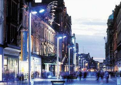 Buchanan Street at night