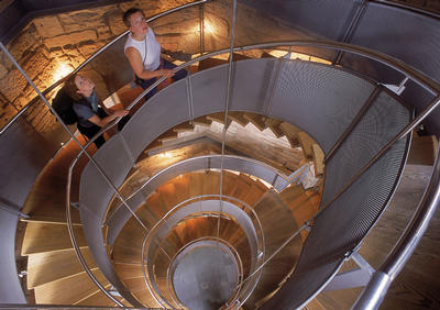 Helical staircase at the Lighthouse