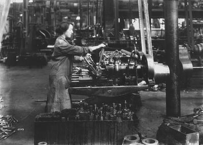 Machine Shop, Linthouse Shipyard, 1916